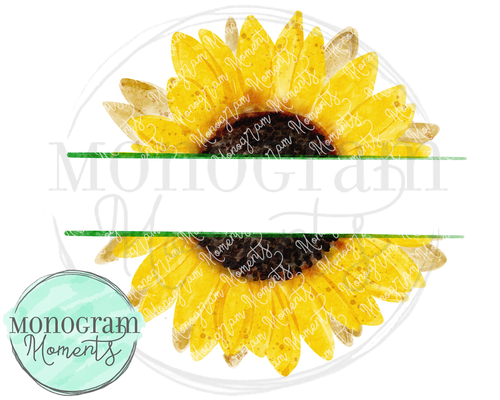 Realistic Sunflower Name Plate