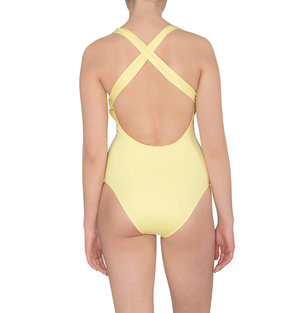 One-piece bodysuit with sash