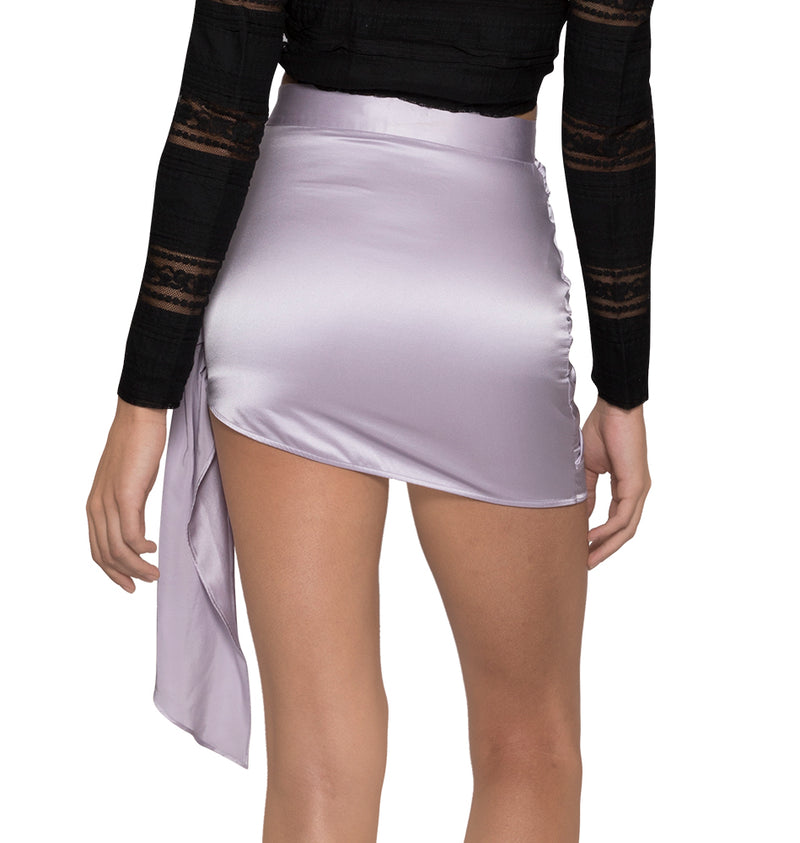 Violet wrap skirt with ruching
