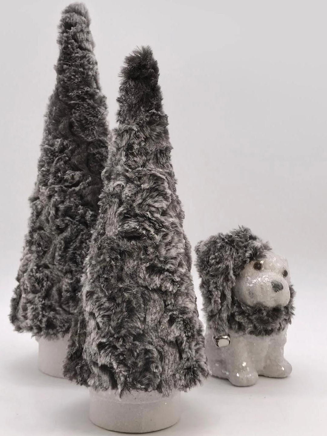 "Fur Covered 12"" Tree - Ash"