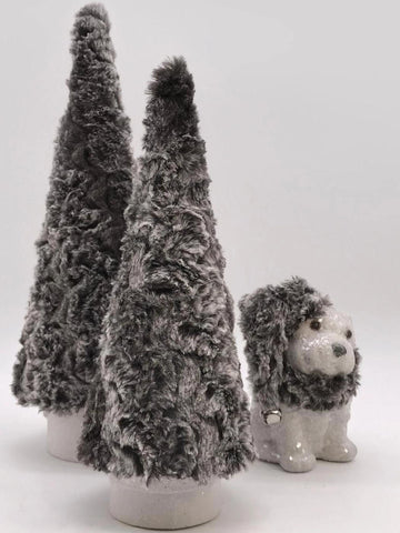 "Fur Covered 16"" Tree - Ash"