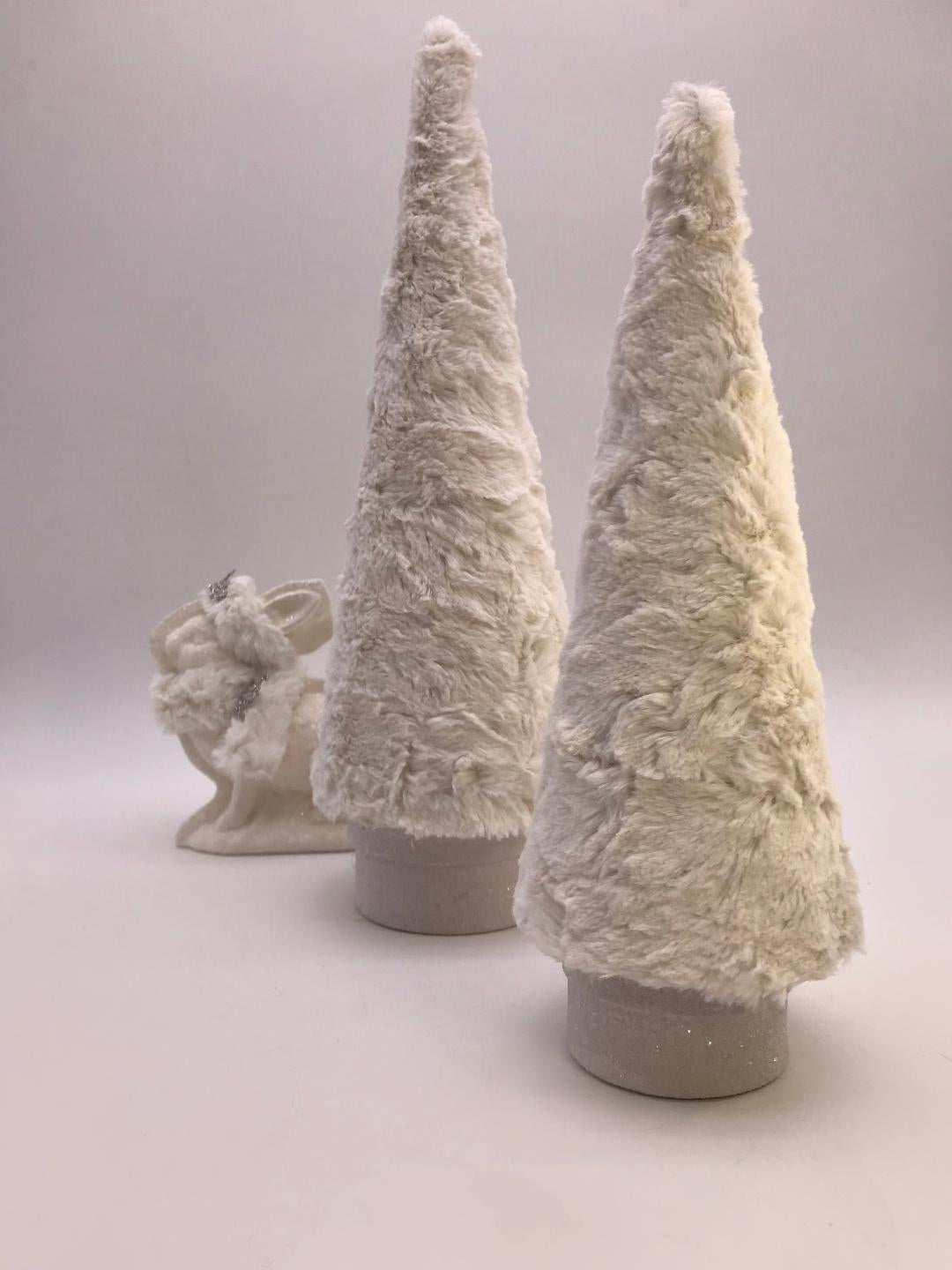 "Fur Covered 26"" Tree - Bisque"