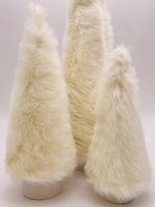 "Fur Covered 16"" Tree - Cream"
