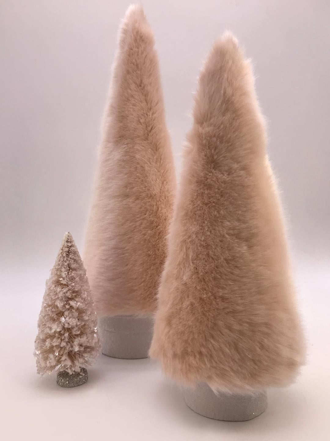 "Fur Covered 16"" Tree - Pink"