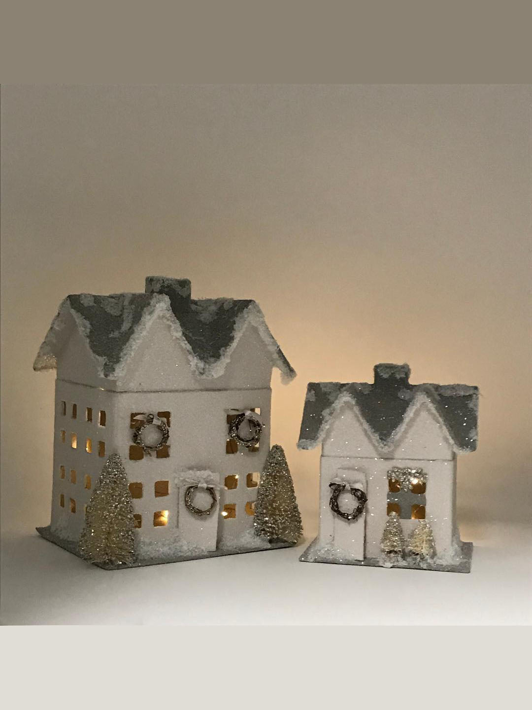 Small Lighted House - Dove