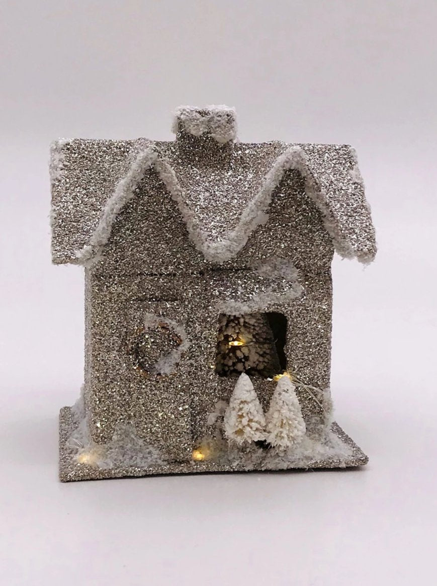 Lit House, Small - Silver