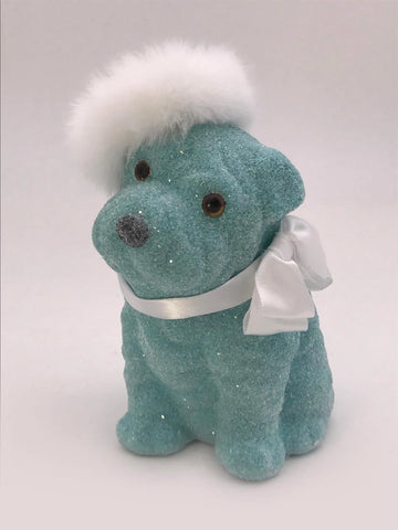 Spike Dog - Turquoise, Snow Fur