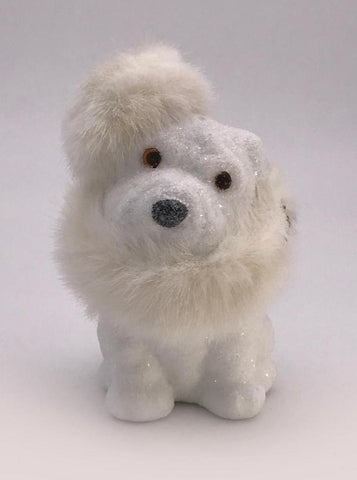 Spike Dog - White, Cream Fur