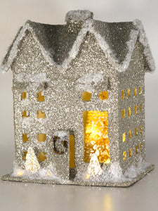 Lit House, Large - Silver