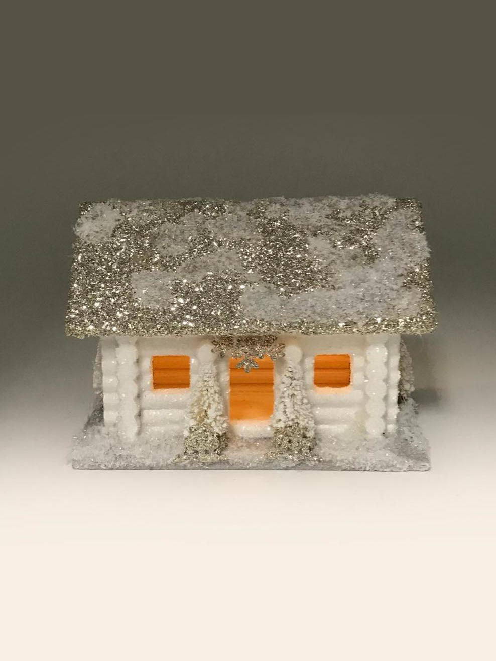 Log Cabin Small - White