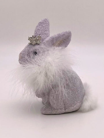 Bunny with Boa - Thistle