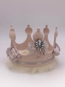 Queen's Crown - Pink, Cream Fur