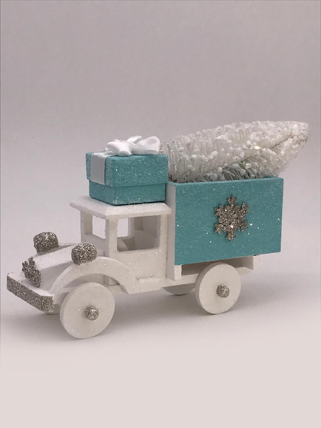 Haul Truck - Turquoise and White