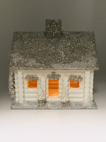 Log Cabin Large - White