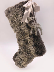 "Stocking with Fawn 10"" - Ash Fur"