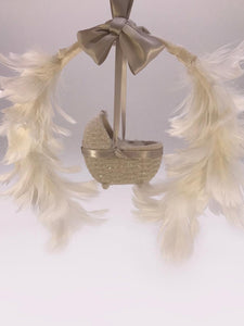 Bassinet Wreath - Dove
