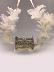 Crib Wreath - Silver