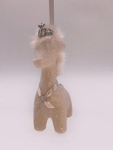 Giraffe Ornament - Blush