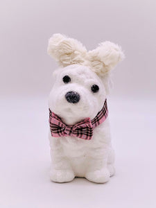 Dog Bunny with Bowtie - White