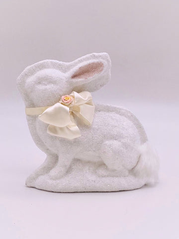 Bunny Mold with Blossom - White