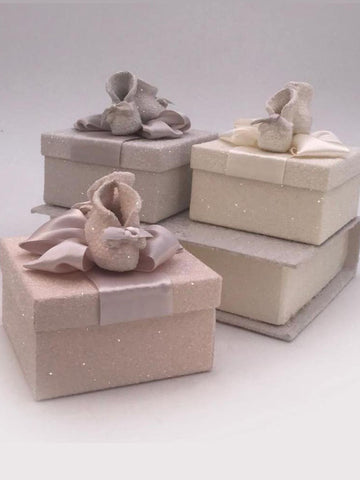 "Booties Square  3.5"" x 4"" Box - Blush"