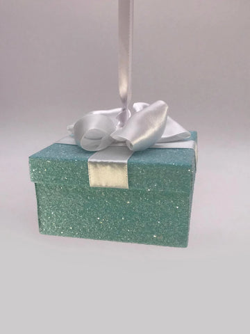 "Hanging Gift 3"" X 3"" Box - Turquoise"