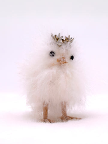Chick with Crown - Small, White