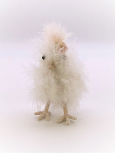 Chick with Blossom Headdress - Small, White