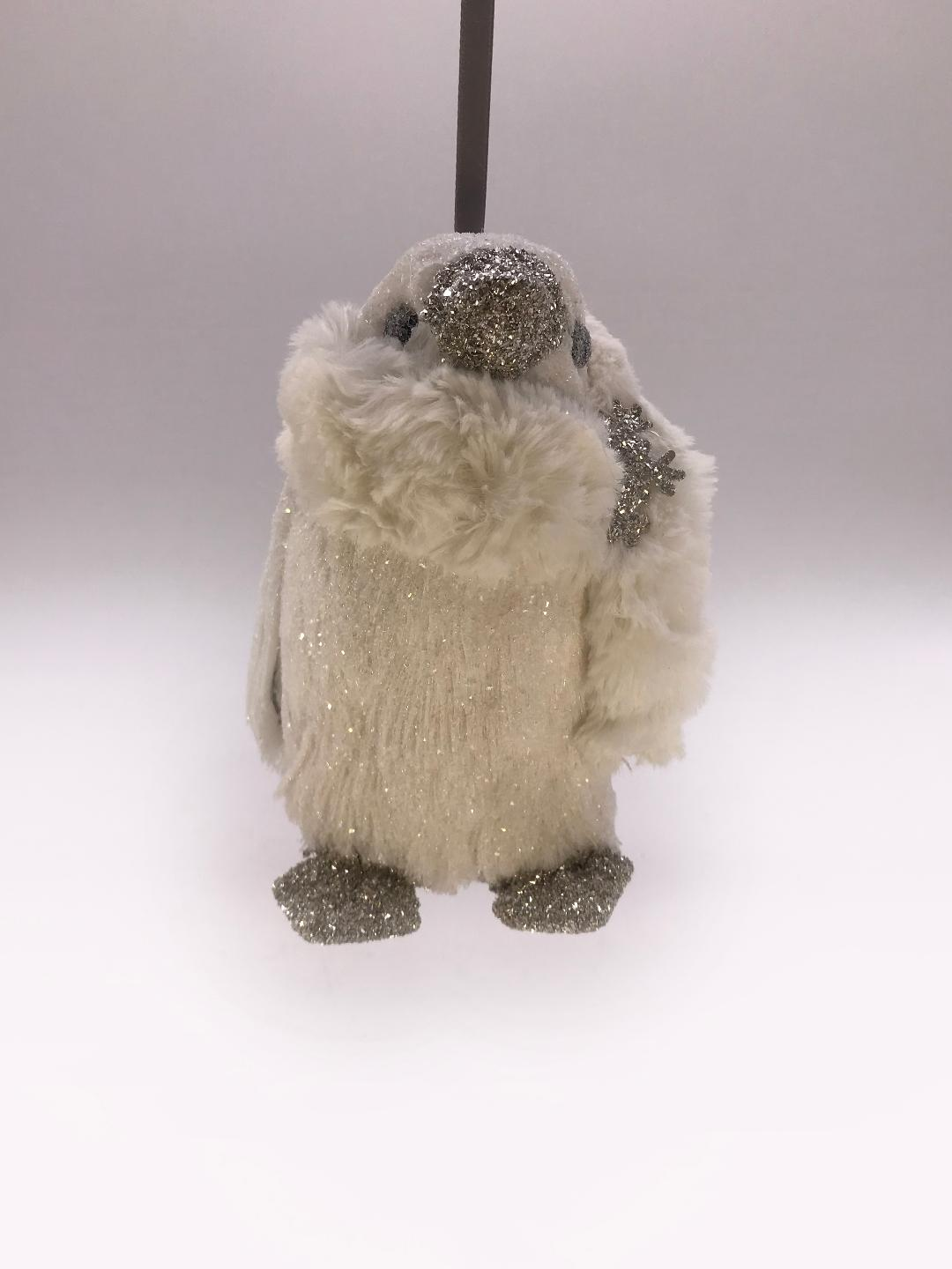 Brushy Penguin Ornament - Bisque Fur
