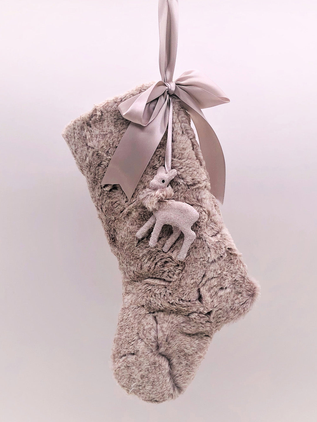 "Stocking with Fawn 10 "" - Oatmeal Fur"