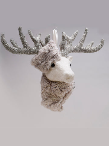 Hanging Stag - Cream, Oatmeal Fur
