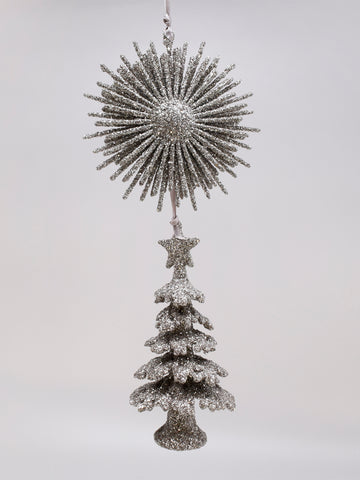 "Tree with Starburst 12"" - Silver"