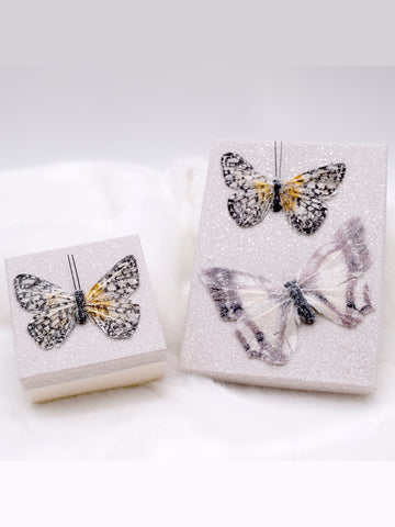 Butterfly Square Gift Box - Dove