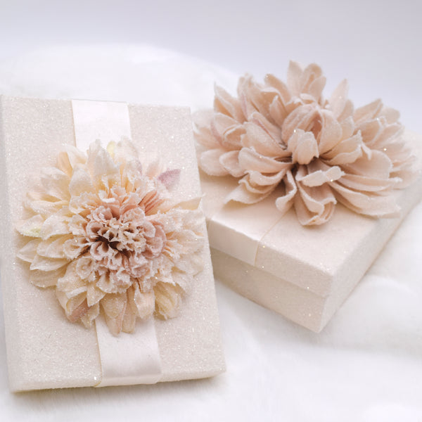 Dahlia Rectangle Gift Box - Cream