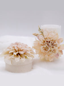 Dahlia Round Gift Box - Short, Cream