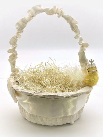 Peep with Crown Basket - Small, Cream