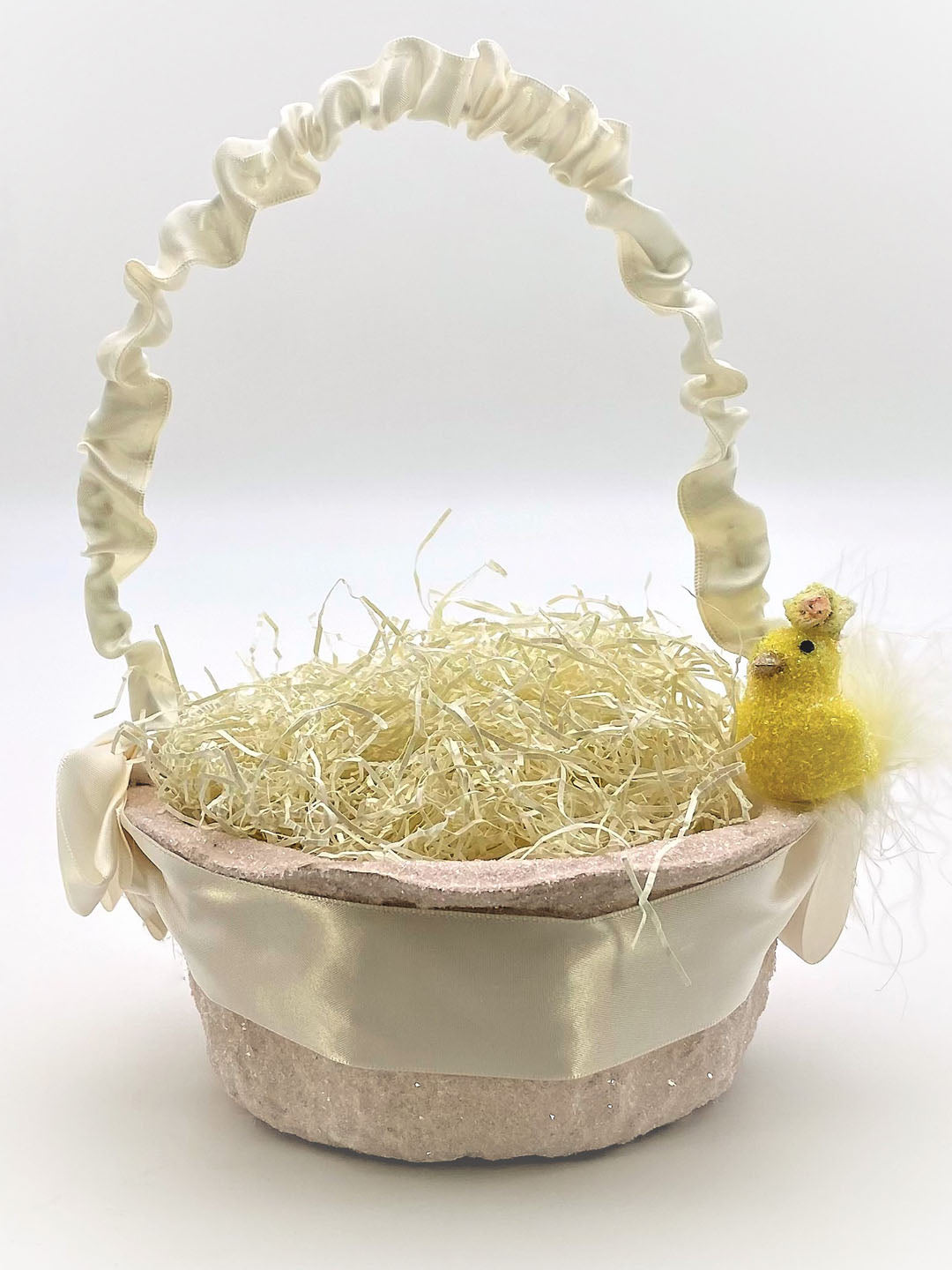 Peep with Blossoms Basket - Small, Pink