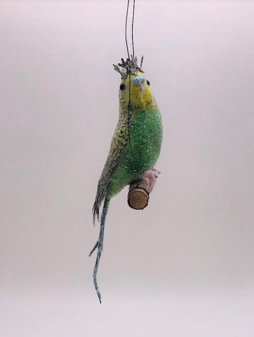Parakeet Ornament - Green