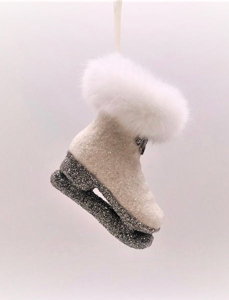 Ice Skate Ornament - Cream
