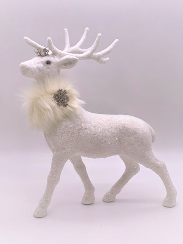 Glitzen Deer - White, Cream Fur