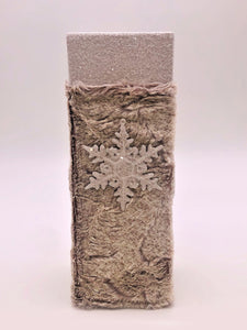 "Spirits Box with Snowflake 4.25"" x 12.25"" - Dove"