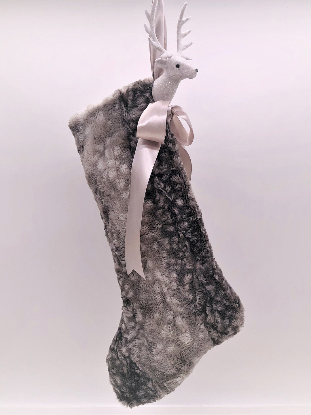 "Stocking with Stag 18"" - Mink Fur"