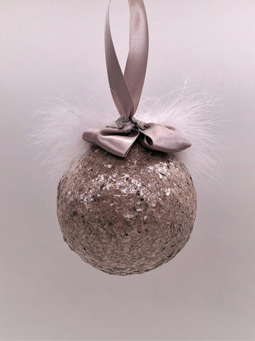Bauble Ornament -  Gold Mica