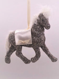 "Filly Ornament, 3.5"" x 5.25""- Silver"