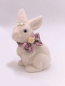 Bunny with Gingham Bow - Melon