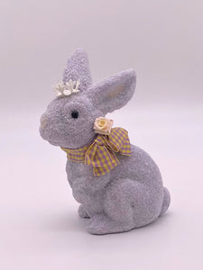 Bunny with Gingham Bow - Thistle
