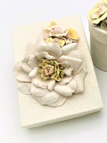 Blossom Rectangle Gift Box - Cream