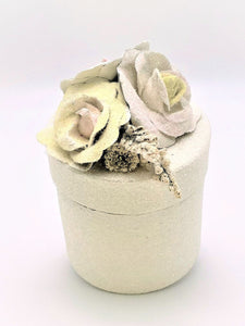 Blossom Tall Round Gift Box - Cream