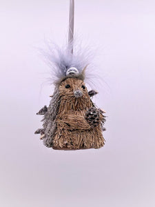 Hedgehog with Orb Headdress Ornament - Silver