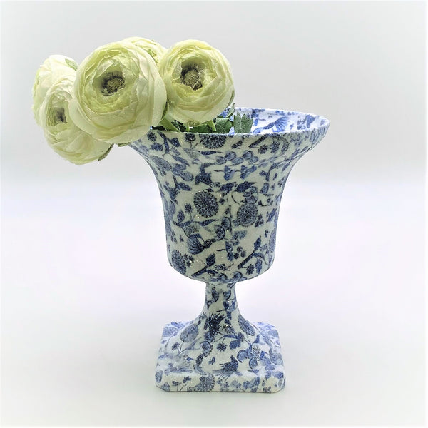 Bunny - Chinoserie Decoupage, Blue & White
